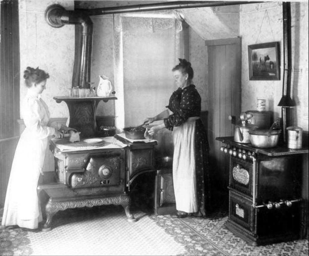 Kitchen Hoosier Cabinet Women In Kitchen 1892 Source Of Inspiration