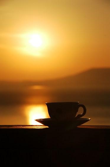 coffee at sunrise