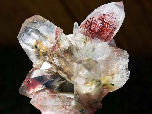quartz with rutile inclusions and green fuchsite