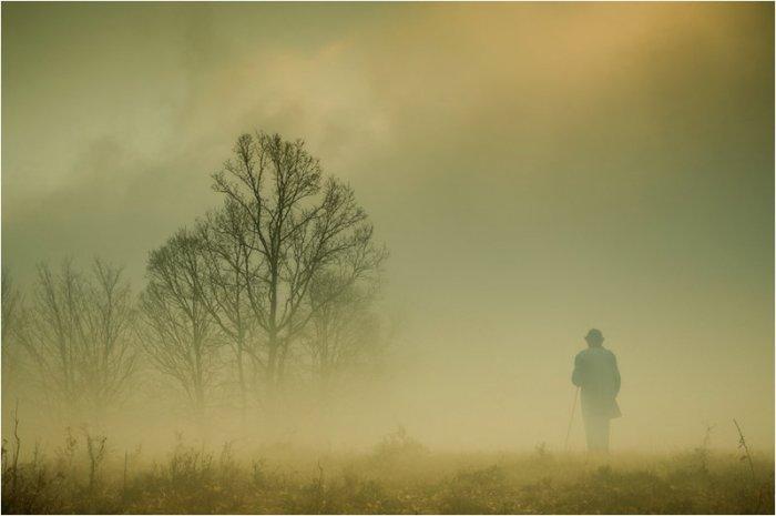 man in fog