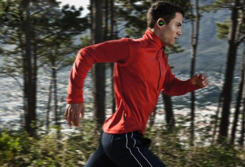 jogger with earphones