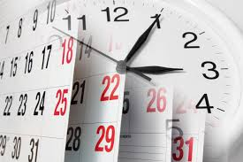 clocks calendar