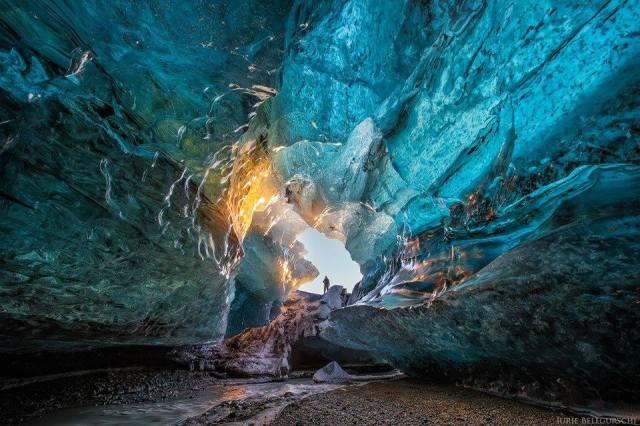 ice cave in Ireland