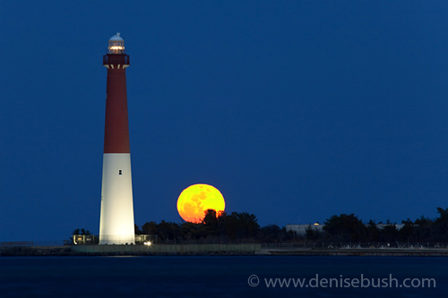 Moonrise at Barnegat Light