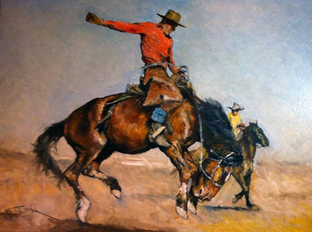 cowboy-on-bucking-horse-1940_artbb